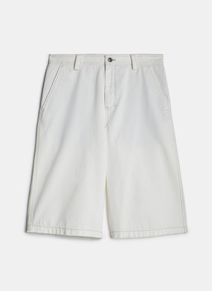 FIVE-POCKET TWILL BERMUDA SHORTS