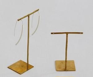 真鍮ピアス・アクセサリースタンド BRASS素材 サイズ2種類各6個入り SI-307001