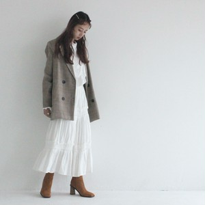 check double button jacket (S19-06024K)