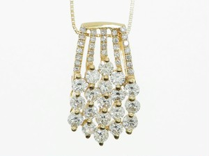 【K18YG】1.750ct UP ダイヤモンドネックレス