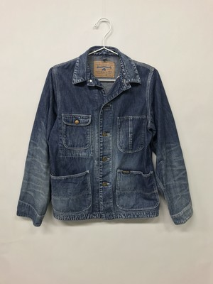 【No. BSL602 Color. 07 Indigo Dark】 Womens Selvage Work Jacket