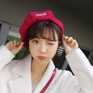 【小物】韓国系ファッション無地オシャレ帽子27117381