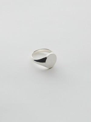 WEISS Round Signet Ring Silver wei-rgsv-06