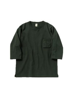 Jackman 度詰めハーフスリーブTシャツ Dotsume H/S T-Shirt  Stand Green
