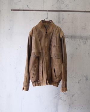 Italy made 2way leather jacket