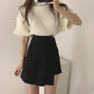 【セット】「単品注文」オシャレ半袖セーター+不規則ラシャスカート32568975