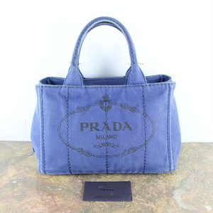 PRADA LOGO CANVAS HAND BAG MADE IN ITALY/プラダカナパキャンバスハンドバッグ