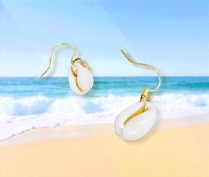 貝の形のピアス(HF136-AP)
