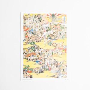 山口晃 A4額絵ポスター 「百貨店圖 日本橋三越」