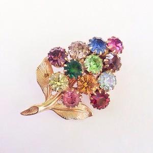 color rhinestone brooch[b-35]