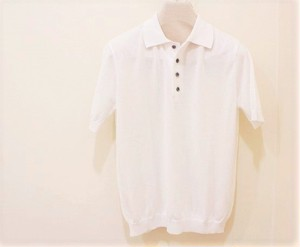 Blu Bre Knit Polo Shirt White