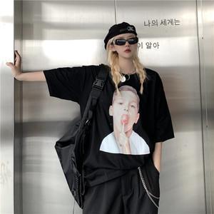 【トップス】韓国系半袖ラウンドネックプルオーバーTシャツ42536516