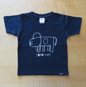 2018キッズTシャツ NAVY いぬ