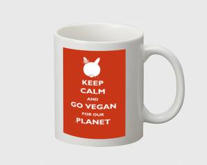 Go Vegan for our Planet - Red - Mug