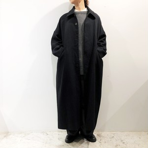 FIRMUM 【フィルマム】 WOOL & LINEN YURAGI KARSEY SOUTIEN COLLAR COAT