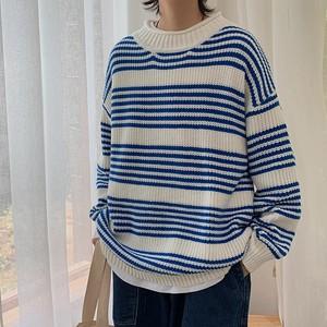 リブラウンドネックラインセーター BL4112
