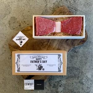 Father's Day Bow Tie Steak Gift(父の日ギフト/蝶ネクタイ和牛ステーキ2種類食べ比べ)