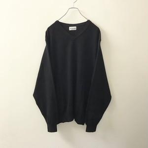 ALFANI ニットシャツ ブラック size XXL メンズ 古着