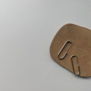 Oval hook pierce/silver