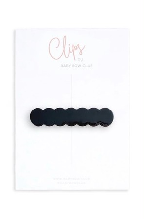 BABY BOW CLUB Scallop Clip // Black