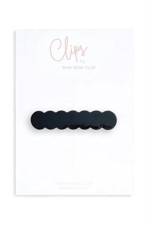 BABY BOW CLUB Scallop Clip // Black