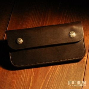 """Original Truckers' Wallet """"Long"""" w/ Silver 925 Buttons : Brown"""