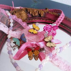 蝶々ヘアクリップ