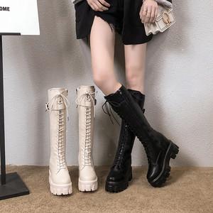 【シューズ】歩きやすいマーティンブーツ ショートブーツニーハイブーツ