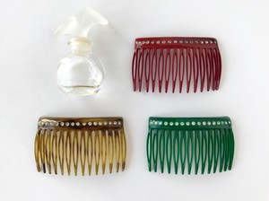 Vintage rhinestones color hair comb