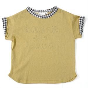 RIO ギンガム衿ぐりTシャツ