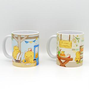 Pマン&ぴーにゃっつ×カモガワバウム コラボマグカップ