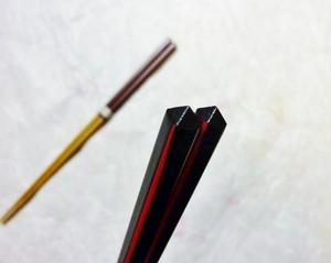 ダイヤカット竹箸 (黒・赤)