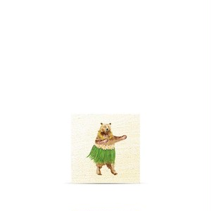 ハワイ限定商品を安心の国内配送で!≪正規輸入品≫日本未発売!【Soha Living/ ソーハリビング】ウッドマグネット フラダンシングベアー
