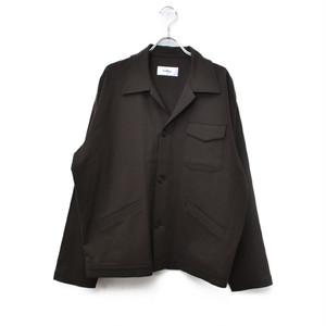 Second Layer / セカンドレイヤー   プレミアムウールオープンカラーシャツジャケット   L   ブラウン