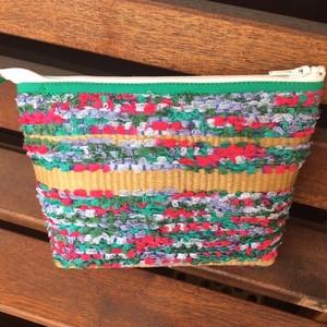 手織りポーチ(大)グリーン