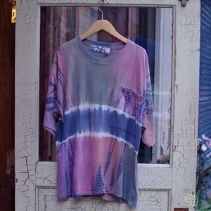 1980-90s タイダイ染め ポケット Tシャツ / インド綿 ポケTee