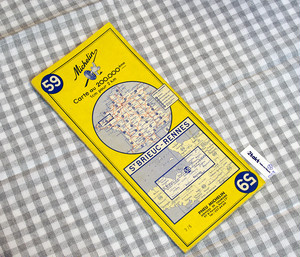 【Vintage/Used品】1964 MICHELIN MAP No.59 フランス北西部 BREST-QUIMPER /0108