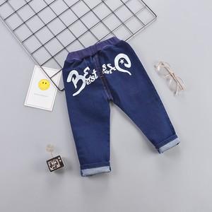【ボトムス】アルファベットデニム男の子韓国系カジュアルパンツ25880613