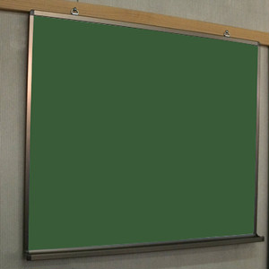 GS0909-CH 茶色フレームの壁掛チョーク黒板(スチールグリーン)90cm×90cm