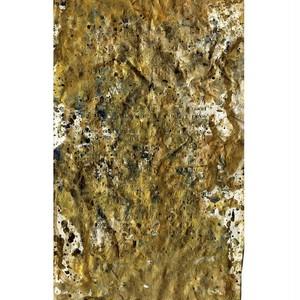 「無題」 古い紙にアクリル * 現代美術 コンテンポラリーアート 絵画 アンティーク 内野隆文 takafumiuchino