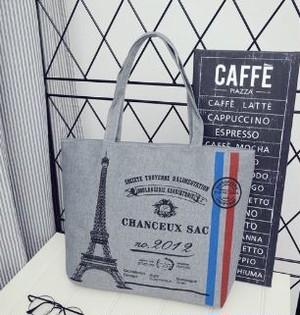 【送料無料】PARIS トートバッグ グレー