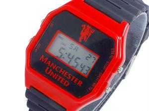 フットボールウォッチ マンチェスターユナイテッド デジタル メンズ 腕時計 GA4412 ブラック