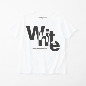 OVERLAPPED WM LOGO PRINTED T-SHIRT- WHITE