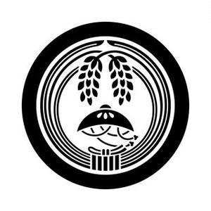 丸に結び稲に笠 aiデータ