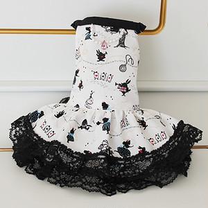 ★かわいい犬服ワンピ/ドレス  アリスジュエルワンピ
