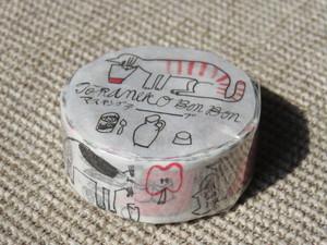 倉敷意匠*トラネコ マスキング (記憶のモンプチA) [99215-01]
