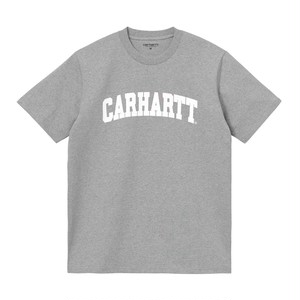 Carhartt (カーハート) S/S UNIVERSITY T-SHIRT - Grey Heather / White