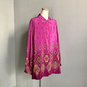 ペイズリーシルクドレスシャツ