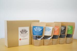 "seaweed ‶nori"" 5種類(味付け海苔・しお・ブラックペッパー・明太子・わさび)★ギフトボックス・手提げ袋付き"