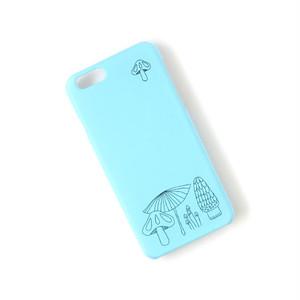 きのこ柄 ウォーターブルー  北欧 スマホケース/スマホカバー iPhone/android/Galaxy/Xperia/AQUOS/Huawei